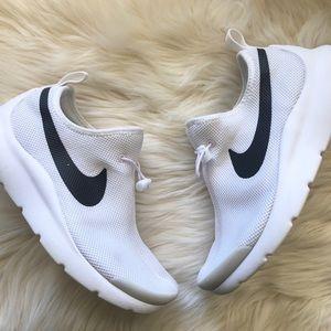 Nike Laceless Tennis Shoes White Drawstring